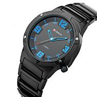 Недорогие Фирменные часы-CURREN Муж. Кварцевый Наручные часы Защита от влаги Спортивные часы Нержавеющая сталь Группа Кулоны Черный