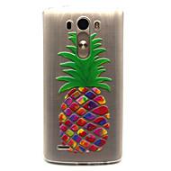 お買い得  携帯電話ケース-ケース 用途 LG G3 / LG LGケース クリア バックカバー 果物 ソフト TPU のために LG Spirit / LG C70 H422