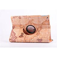 wereldkaart 360⁰ geval ontwerp stand functie van hoge kwaliteit pu lederen tas voor ipad mini 3/2/1 (assorti kleur)