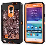 Недорогие Чехлы и кейсы для Galaxy Note-Кейс для Назначение SSamsung Galaxy Samsung Galaxy Note Защита от удара Кейс на заднюю панель броня ПК для Note 4 Note 3