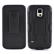 Недорогие Чехлы и кейсы для Galaxy S7-Кейс для Назначение SSamsung Galaxy Кейс для  Samsung Galaxy Защита от удара / со стендом Кейс на заднюю панель броня ПК для S7 / S6 edge plus / S6 edge