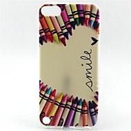pattern pintura sorriso lápis TPU soft case para o iPod touch 5 toque 6