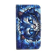 Недорогие Чехлы и кейсы для Galaxy S-Кейс для Назначение SSamsung Galaxy Кейс для  Samsung Galaxy Бумажник для карт Кошелек со стендом Флип Чехол Кот Кожа PU для S5 Mini S4