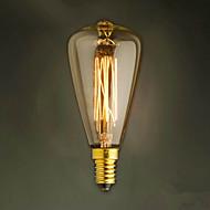 e14 40w st48 lâmpada de luz amarela edison pequena tampa de rosca lustre retro lâmpadas decorativas