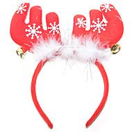 abordables Artículos para Celebración-Artículos Para Celebrar la Navidad / Diadema de reno cascabel Textil / Plumas / Algodón Regalo 1 pcs