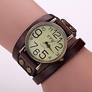 voordelige Modieuze horloges-Dames Modieus horloge Armbandhorloge Kwarts Leer Band Vintage Zwart Wit Blauw Rood Orange Bruin Groen