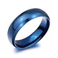 お買い得  -男性用 バンドリング  -  チタン鋼 ファッション 7 / 8 / 9 / 10 / 11 ブルー 用途 パーティー 日常 カジュアル