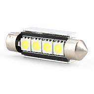 42mm 4 smd ha condotto la lampadina della luce di alta qualità della lampadina 5500k dc 12v bianca