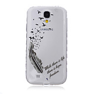 For Samsung Galaxy etui Transparent Mønster Etui Bagcover Etui Fjer TPU for SamsungS6 edge plus S6 edge S6 S5 Mini S5 S4 Mini S4 S3 Mini
