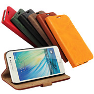 お買い得  Samsung 用 ケース/カバー-DE JI ケース 用途 Samsung Galaxy Samsung Galaxy ケース カードホルダー / スタンド付き / フリップ フルボディーケース ソリッド PUレザー のために A7 / A5 / A3