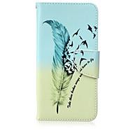 Недорогие Чехлы и кейсы для Galaxy S6 Edge Plus-Кейс для Назначение SSamsung Galaxy Кейс для  Samsung Galaxy Бумажник для карт Кошелек со стендом Флип Чехол  Перья Кожа PU для S6 edge