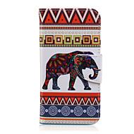 halpa Galaxy J7 kotelot / kuoret-Etui Käyttötarkoitus Samsung Galaxy Samsung Galaxy kotelo Korttikotelo Lomapkko Tuella Flip Kuvio Suojakuori Elefantti PU-nahka varten J7
