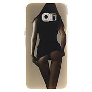 abordables Carcasas-Funda Para Samsung Galaxy Funda Samsung Galaxy Diseños Funda Trasera Chica Sexy TPU para S6 edge plus S6 edge S6