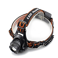 Black headlamp Headlamps Headlight LED 2000 lm 4 Mode Cree XM-L T6 with Charger Zoomable Waterproof Anglehead Super Light