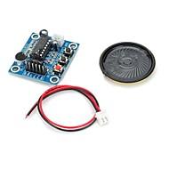 お買い得  Arduino 用アクセサリー-マイク/スピーカー/ W isd1820音声記録モジュール - 深い青色