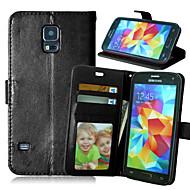 Недорогие Чехлы и кейсы для Galaxy S6 Edge Plus-Кейс для Назначение SSamsung Galaxy Кейс для  Samsung Galaxy Бумажник для карт Кошелек со стендом Флип Чехол Сплошной цвет Кожа PU для S6