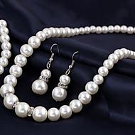 Женский Ожерелья с подвесками Жемчужные ожерелья Жемчуг Сплав бижутерия Свадьба европейский Бижутерия Назначение Свадьба