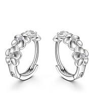 お買い得  -クリスタル スタッドピアス  -  純銀製, クリスタル, シルバー ファッション シルバー 用途 結婚式 パーティー 日常