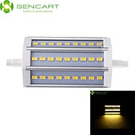 R7S LED Floodlight Recessed Retrofit 27 SMD 5730 800-900 lm Warm White Cold White 3000-3500  6000-6500 K Dimmable AC 85-265 V
