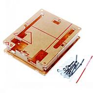 お買い得  Arduino 用アクセサリー-Arduino UNO R3ボードR3用のケースエンクロージャ透明なアクリルボックス明確なカバー