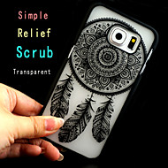 simpel matteret relief trykning pc telefon Taske til Samsung Galaxy s6 / s3 / s4 / S5 / S6 kant / s6 kant +