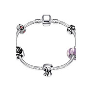 povoljno -Žene Gipke i čvrste narukvice Jewelry DIY Glina Circle Shape Flower Shape Bowknot Shape Jewelry ZaVjenčanje Party Special Occasion