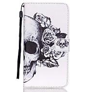 Для Кейс для  Samsung Galaxy Кошелек / Бумажник для карт / со стендом / Флип Кейс для Чехол Кейс для Череп Искусственная кожа SamsungS6