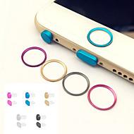 abordables Cadena para Samsung-círculo botón de inicio protector anillo de cubierta de metal + toma de auriculares&puerto de carga tapón anti-polvo fijado para el