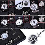 cheap Cosplay & Costumes-Clock/Watch Inspired by Fullmetal Alchemist Edward Elric Anime Cosplay Accessories Necklace / Clock/Watch / Ring Black / Silver Alloy Male