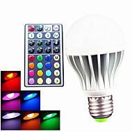 お買い得  LED ボール型電球-550 lm E26/E27 B22 LEDボール型電球 A60(A19) 3 LEDの ハイパワーLED 調光可能 装飾用 リモコン操作 RGB AC 100-240V