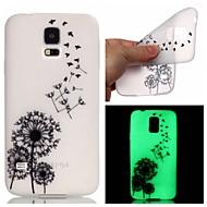 Mert Samsung Galaxy tok Foszforeszkáló Case Hátlap Case Pitypang TPU Samsung S6 edge plus / S5