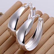お買い得  -女性用 銀メッキ ドロップイヤリング - シルバー イヤリング 用途 日常 カジュアル