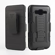 Недорогие Чехлы и кейсы для Galaxy J5-Кейс для Назначение SSamsung Galaxy Кейс для  Samsung Galaxy Защита от удара со стендом Кейс на заднюю панель Сплошной цвет ПК для J5