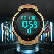 Недорогие Фирменные часы-SKMEI Муж. Наручные часы / Спортивные часы Будильник / Календарь / Секундомер Pезина Группа Черный