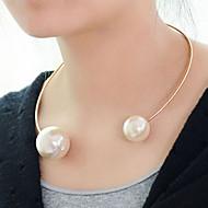 お買い得  -女性用 チョーカー / パールネックレス  -  真珠 ファッション ホワイト ネックレス ジュエリー 用途 パーティー, 誕生日, 贈り物