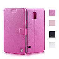 お買い得  携帯電話ケース-ケース 用途 Samsung Galaxy Samsung Galaxy Note カードホルダー スタンド付き フリップ フルボディーケース 純色 PUレザー のために Note 5 Note 4 Note 3