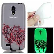 Для Кейс для  Samsung Galaxy Сияние в темноте Кейс для Задняя крышка Кейс для дерево TPU Samsung S6 edge plus / S6 / S5 / S4 Mini / S3
