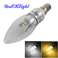 3W E14 LED gyertyaizzók C35 6 led SMD 5630 Tompítható Dekoratív Meleg fehér Hideg fehér 240-280lm 3000/6000K AC 220-240 AC 110-130V