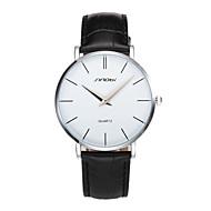Недорогие Фирменные часы-SINOBI Муж. Модные часы Японский Защита от влаги / Ударопрочный Кожа Группа Кулоны / На каждый день / минималист Черный / Коричневый / Два года / Sony SR626SW