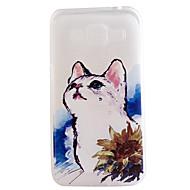 halpa Galaxy J1 kotelot / kuoret-Etui Käyttötarkoitus Samsung Galaxy Samsung Galaxy kotelo Läpinäkyvä Kuvio Takakuori Kissa TPU varten On 7 On 5 J7 J5 J3 J1 Grand Prime