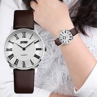 cheap Watch Deals-SKMEI® Couple's Luxury Slim Classic Leather Quartz Watch Cool Watches Unique Watches