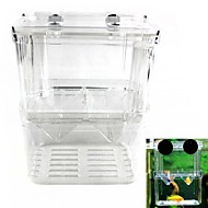 abordables Suministros de Limpieza de Acuario-doble incubadora caja de aislamiento reproducción de peces juveniles (l tamaño)