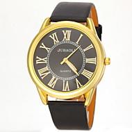 Недорогие Фирменные часы-JUBAOLI Муж. Наручные часы Кварцевый Повседневные часы PU Группа Кулоны Черный Белый