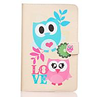 Назначение Кейс для  Samsung Galaxy Чехлы панели Кошелек Бумажник для карт со стендом Флип С узором Чехол Кейс для Сова Искусственная кожа