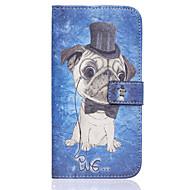 Недорогие Чехлы и кейсы для Galaxy S7-Для Кейс для  Samsung Galaxy Кошелек / Бумажник для карт / со стендом / Флип Кейс для Чехол Кейс для С собакой Искусственная кожа Samsung