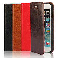 Case For Apple iPhone 6 Plus / iPhone 6 Card Holder / with Stand / Flip Full Body Cases Solid Colored Hard Genuine Leather for iPhone 6s Plus / iPhone 6s / iPhone 6 Plus