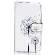 Недорогие Чехлы и кейсы для Galaxy J7-Назначение Кейс для  Samsung Galaxy Чехлы панели Кошелек Бумажник для карт со стендом Флип Чехол Кейс для одуванчик Искусственная кожа для