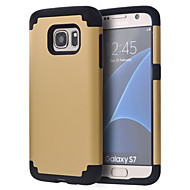 cheap Cases / Covers for Samsung-Case For Samsung Galaxy Samsung Galaxy S7 Edge Shockproof Bumper Solid Color PC for S8 S8 Edge S7 edge plus S7 edge S7