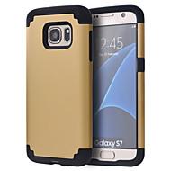 baratos Capinhas /Cases para Samsung-Capinha Para Samsung Galaxy Samsung Galaxy S7 Edge Antichoque Moldura Anti-Choque Côr Sólida PC para S8 S8 Edge S7 edge plus S7 edge S7