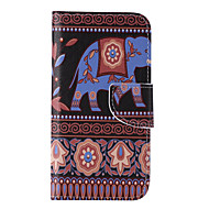 Недорогие Чехлы и кейсы для Galaxy S7 Edge-Для Samsung Galaxy S7 Edge Кошелек / Бумажник для карт / со стендом / Флип Кейс для Чехол Кейс для Слон Искусственная кожа SamsungS7 edge